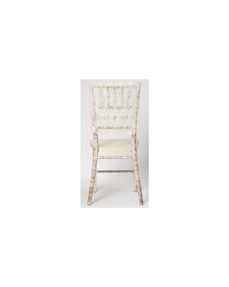 Ivory Lace Vintage Wedding Chiavari Chair Cap 38cmx41cm