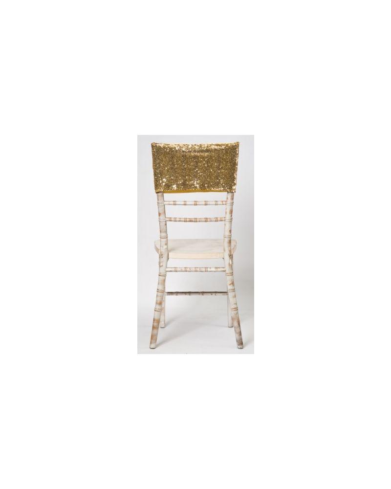 Gold Sequin Chiavari Chair Cap
