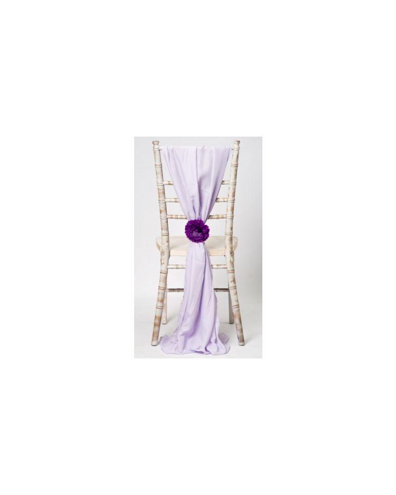 Lilac Chiavari Chair Cover Wedding Chiffon Vertical Drops