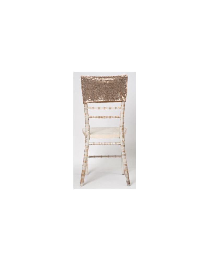 Champagne Gold Sequin Chiavari Chair Cap