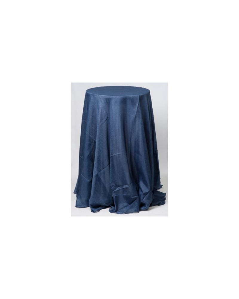 "Navy Blue Linen Wedding Table Cloth 120"" Round"