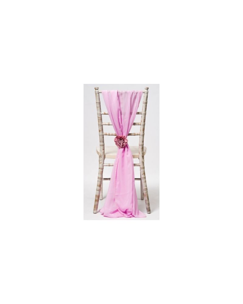 Pink Chiavari Chair Cover Wedding Chiffon Vertical Drops