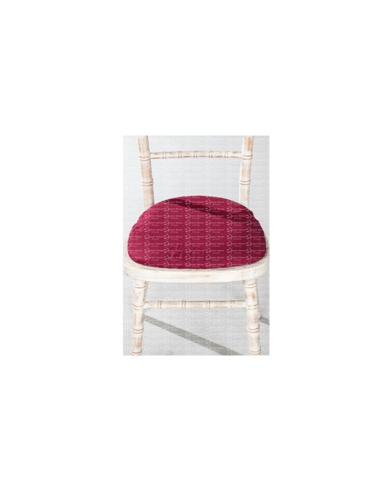 Chiavari Chair Polyester Seat Pad Covers (Shower Caps)  To Buy White, Ivory, Black, Navy, Purple & Burgundy