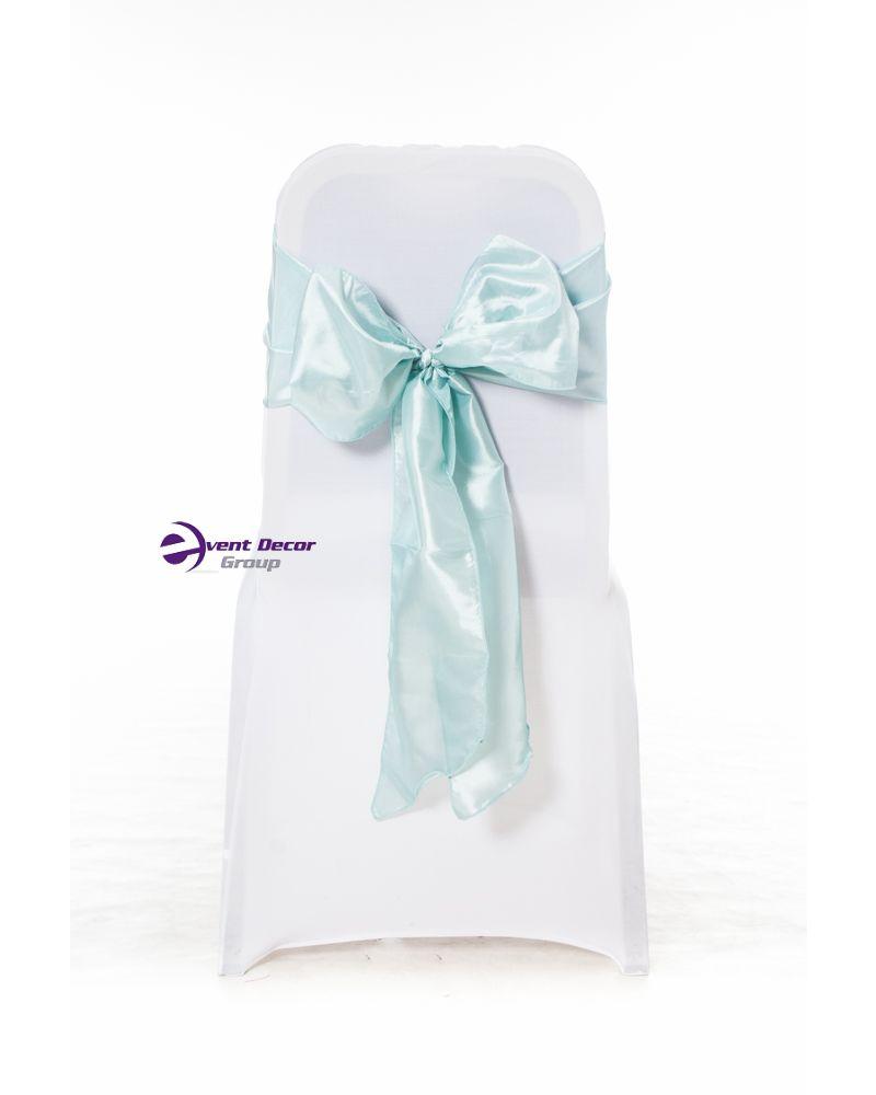 Tiffany Blue Taffeta Wedding Chair Cover Sashes