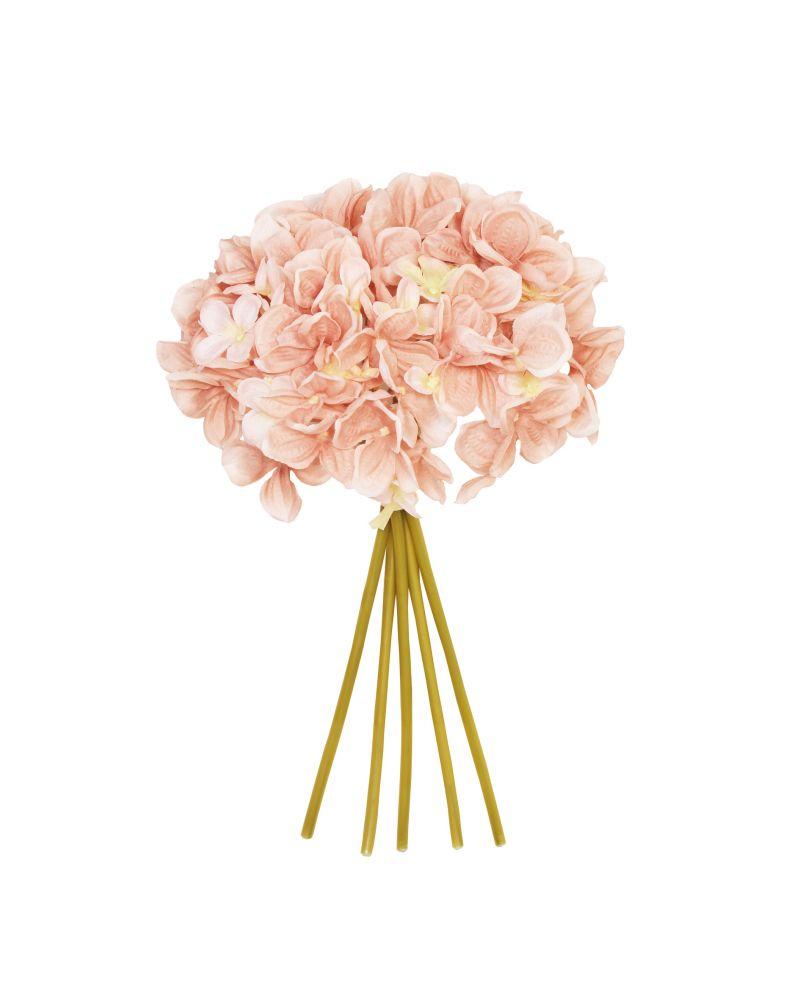 28cm Blush Pink Hydrangea 5 Posy