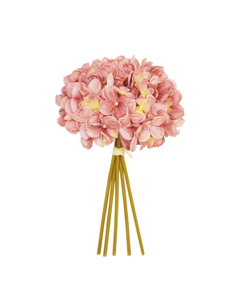 28cm Dusky Pink Hydrangea 5 Posy