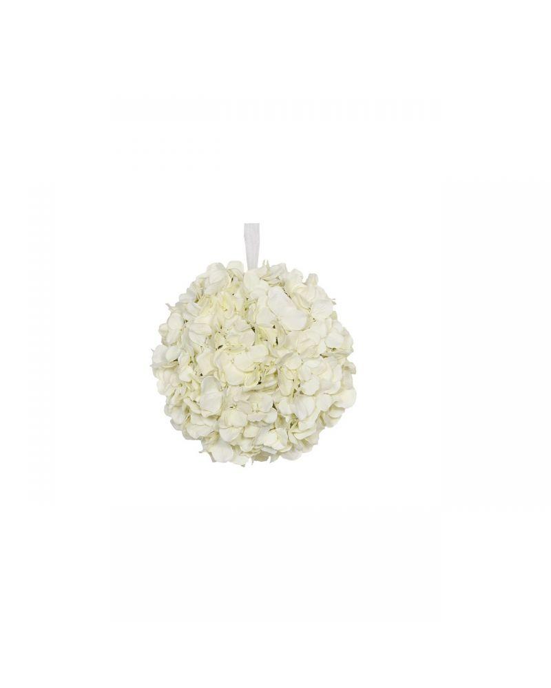 25cm Cream Hydrangea Ball