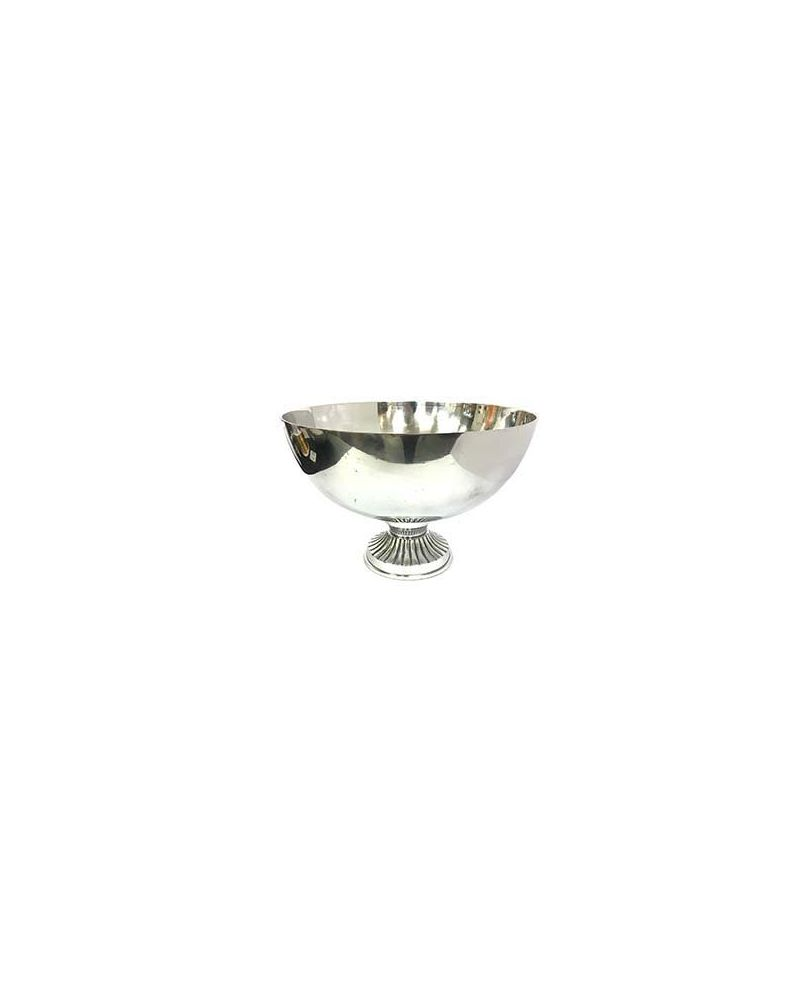 Silver Smooth Table Flower Bowl Centrepiece 25cm