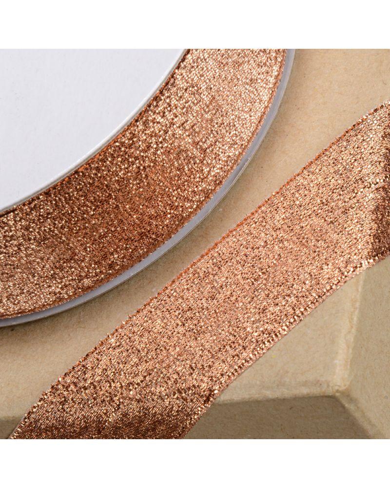 Lurex Ribbon 12mm x 25m Rose Gold Qaurtz