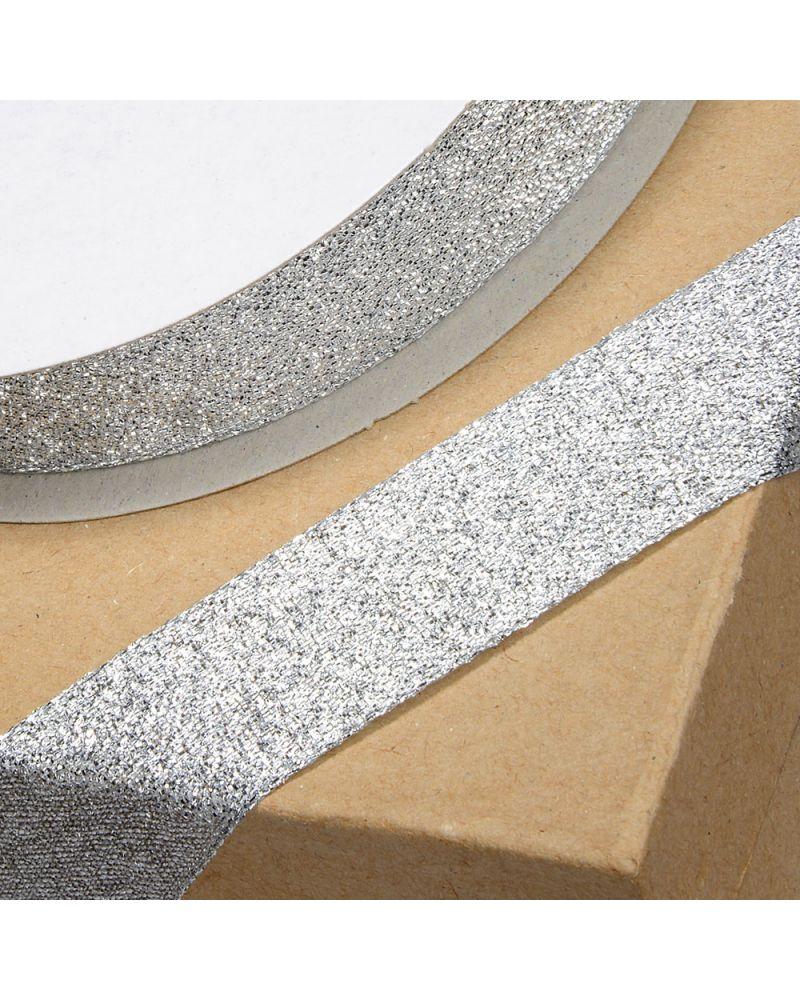 Lurex Ribbon 12mm x 25m Silver