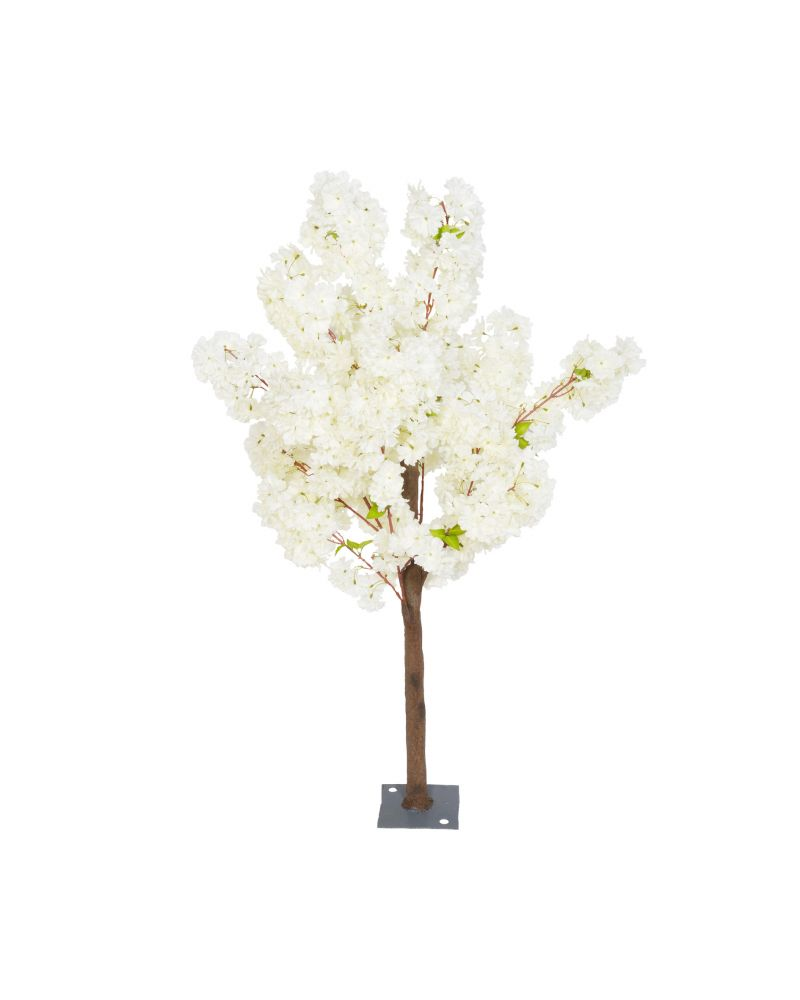 140cm Ivory Blossom Tree 4 Branch