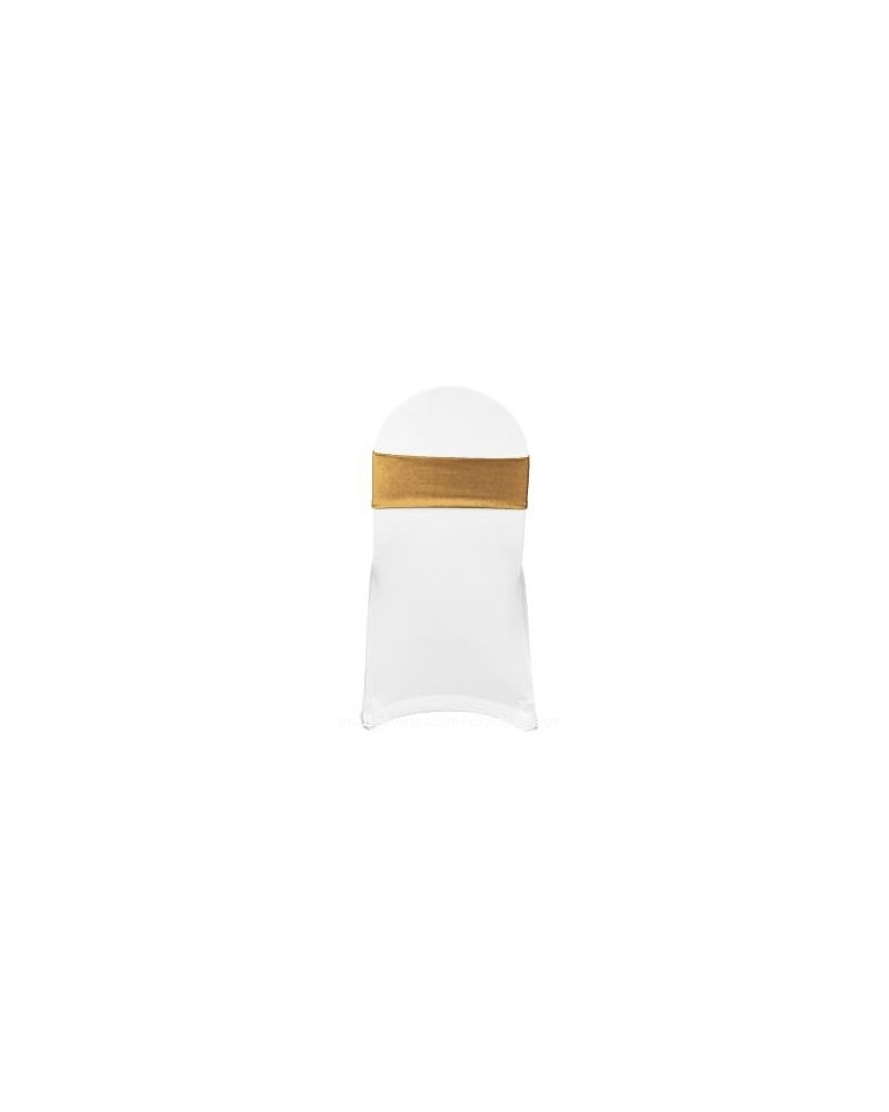 Gold Spandex Lycra Bands For Chair Covers