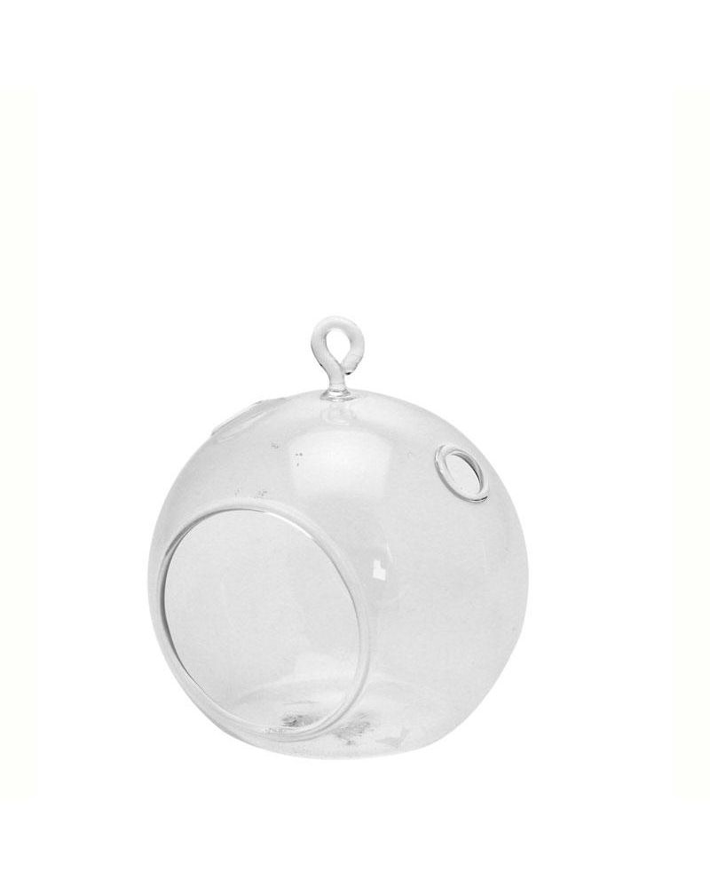 Glass Hanging Bubble Ball Small 10x11cm