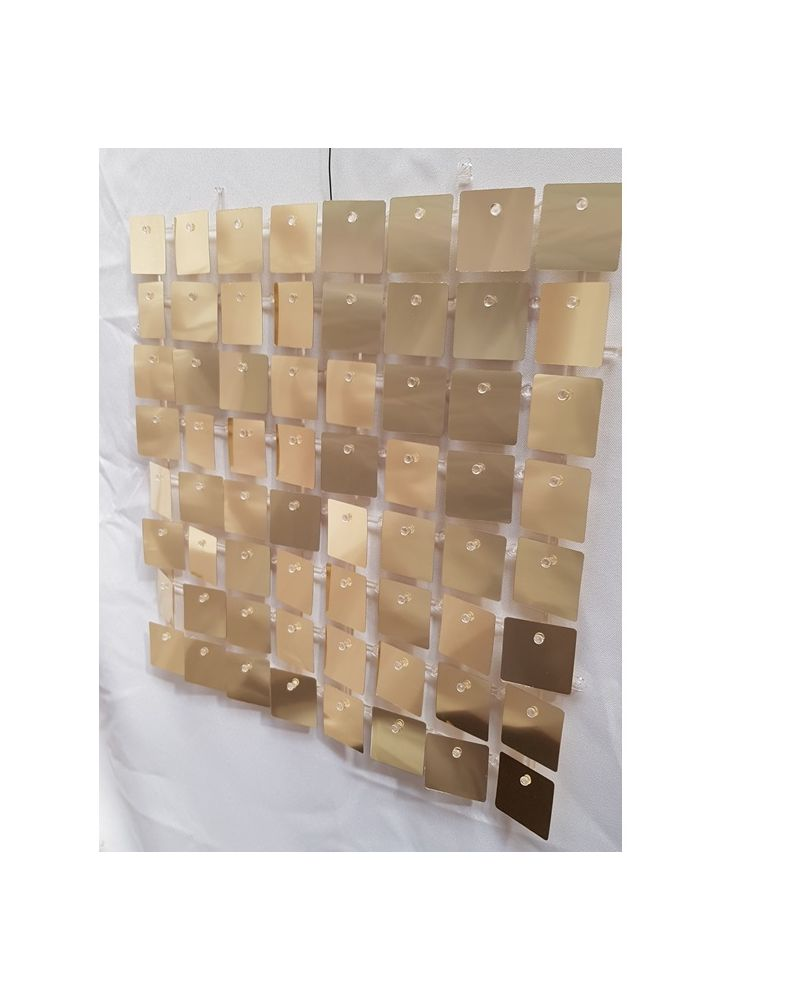 Sequin Wall Panel (Gold)