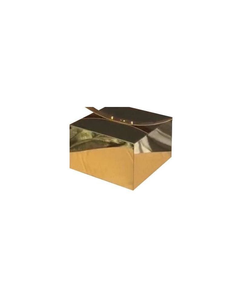 Metal  Shiny Gold Table Box Cake stand Cube riser 25x25x15cm