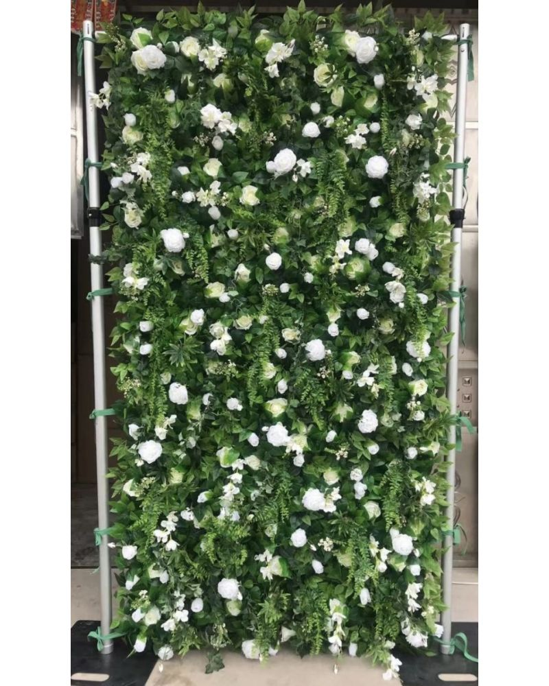3D 8ft x 4ft greenery flower wall (roll out version ) High quality