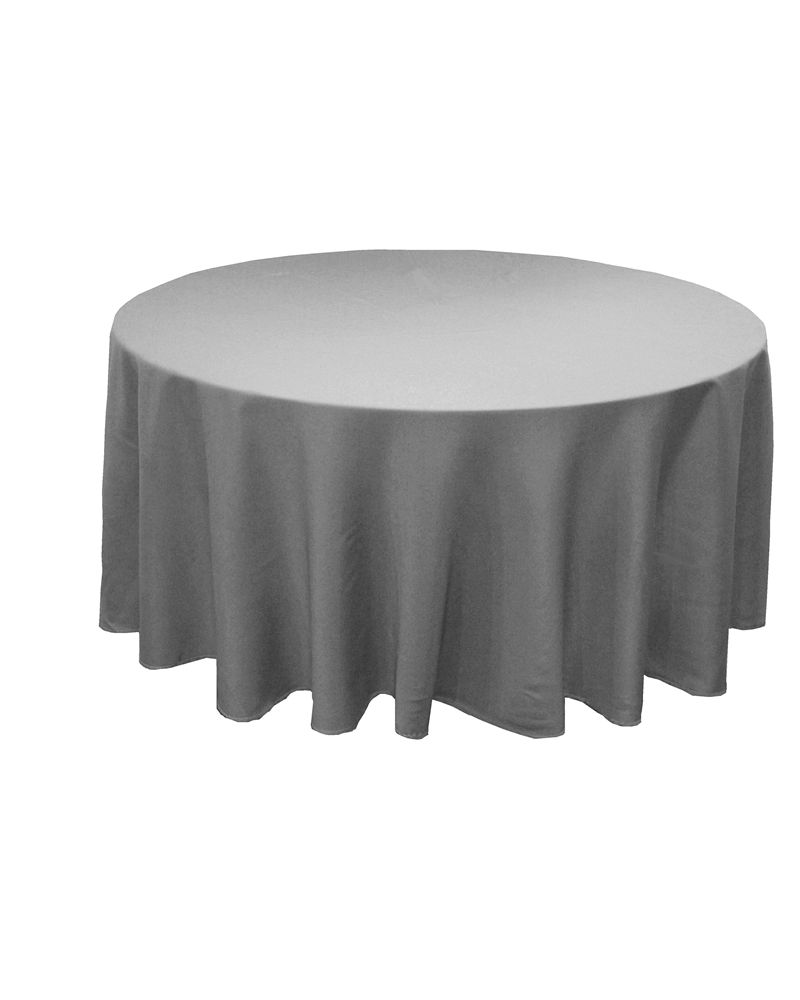 120 Inch White Round Banqueting Wedding Tablecloth