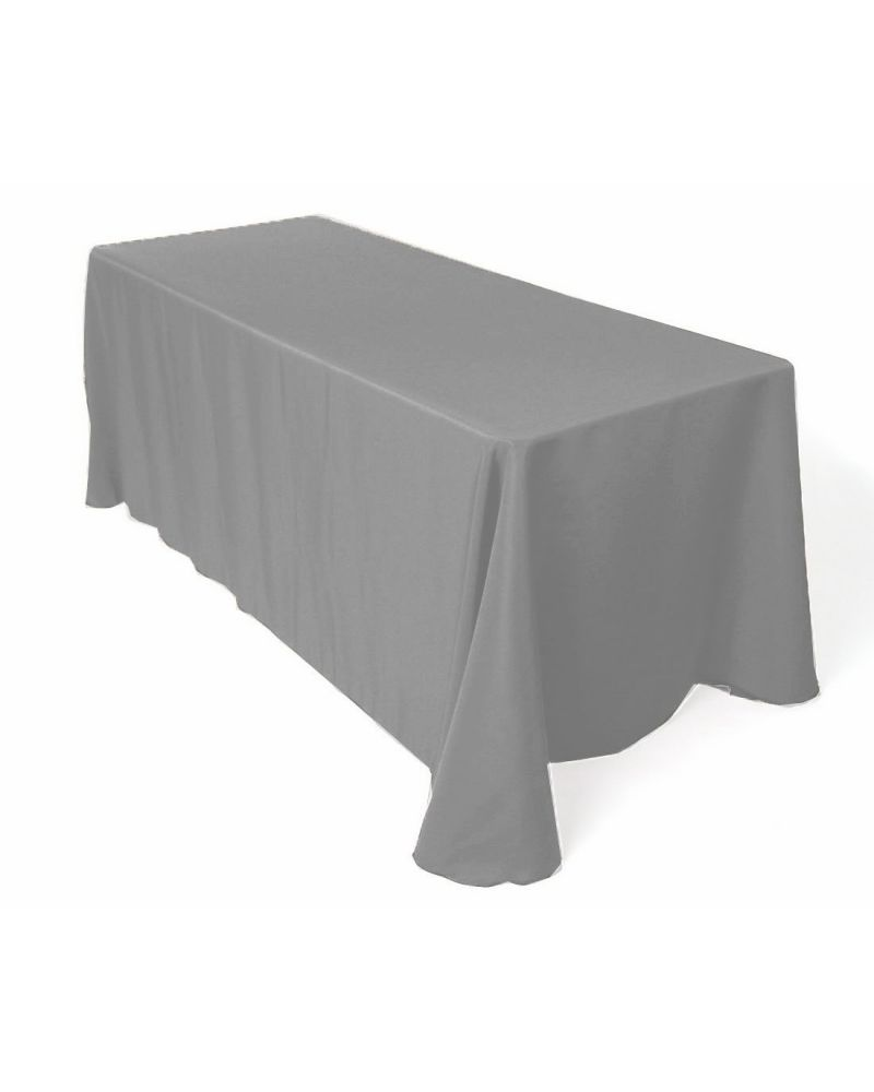 6ft Navy Blue Rectangular Fitted Polyester Trestle Table Banqueting Tablecloth