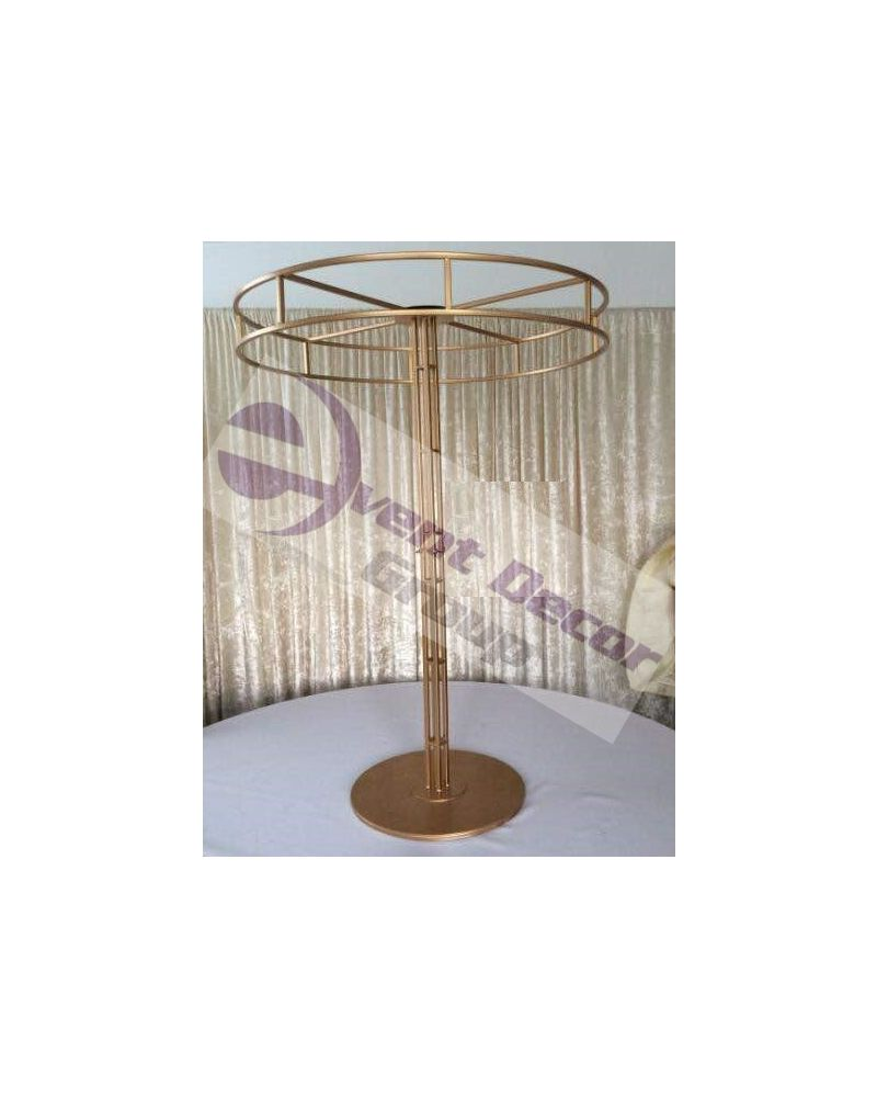 100cm Height Halo Stand with 80cm Ring in SIlver