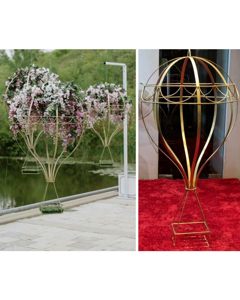 Hot Air Balloon Flower Stand Table Pedestal 70cm Gold