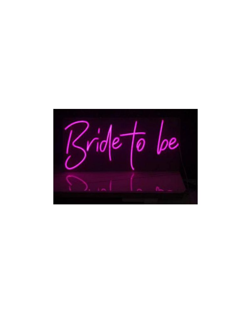 Bride To Be LED Neon Party Sign (Cool White)
