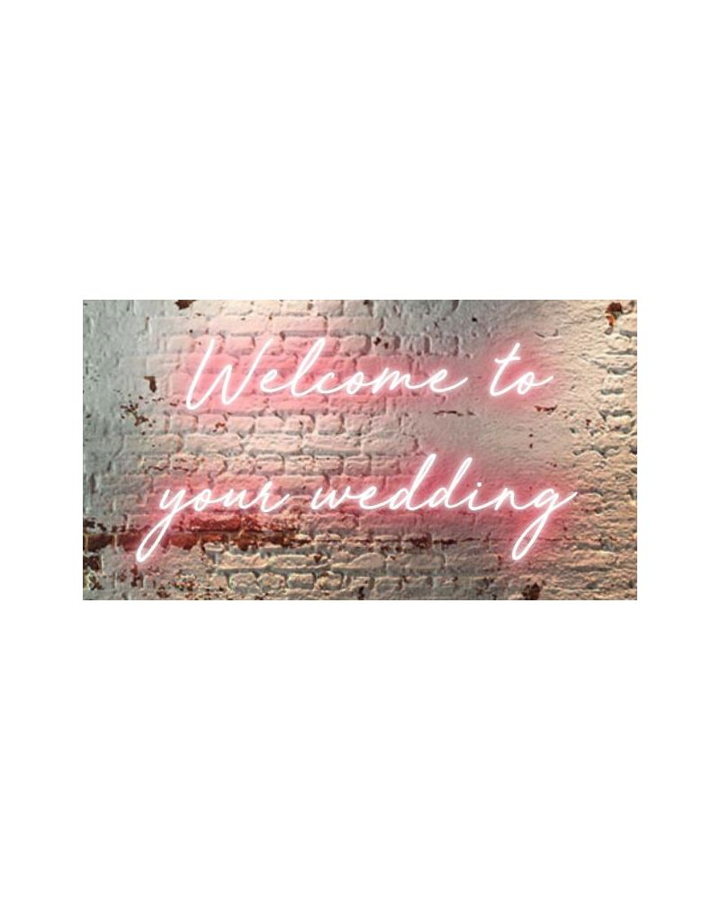 Welcome To Your Wedding LED Neon Sign (Cool White)
