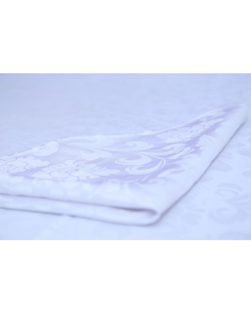 "White Damask Polyester Napkins 20""x20"""