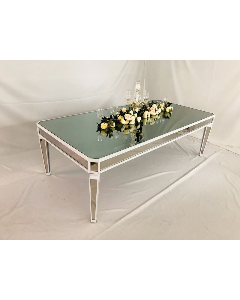 Mirror Finish White Head Table 240cm x 120cm
