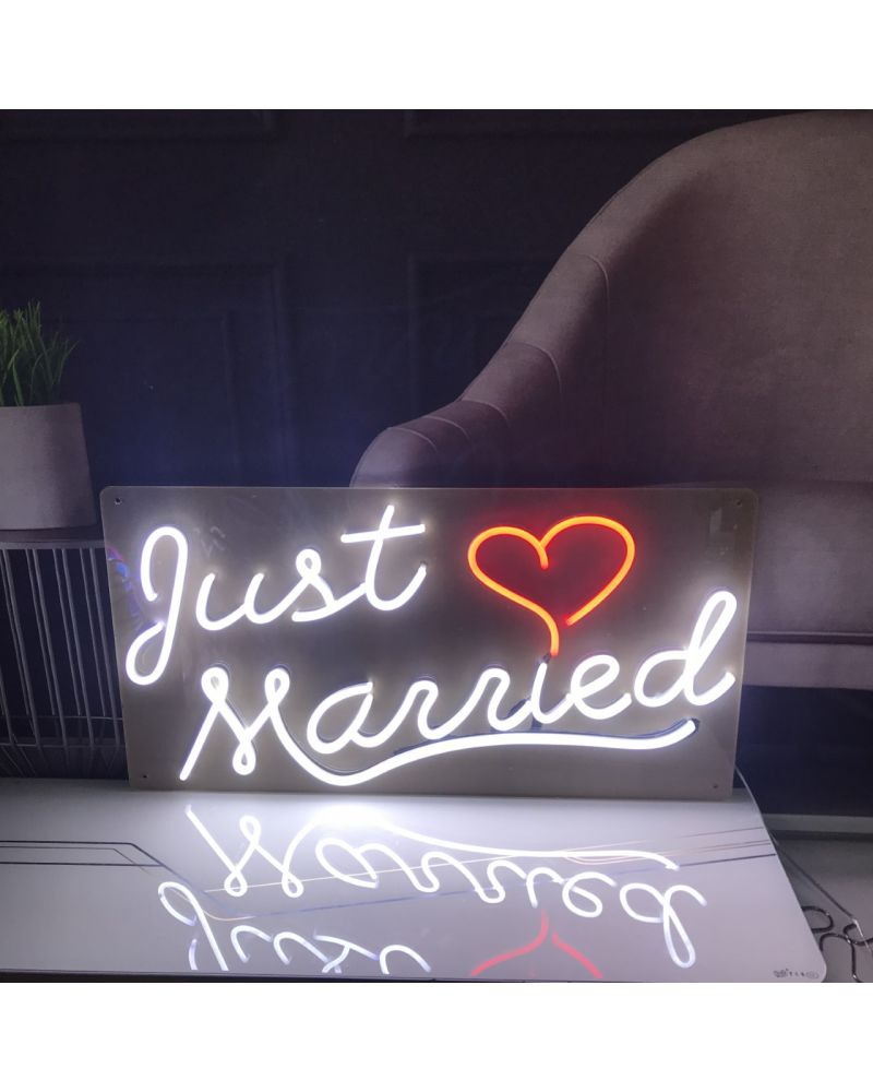 Just Married LED Neon Wedding Sign
