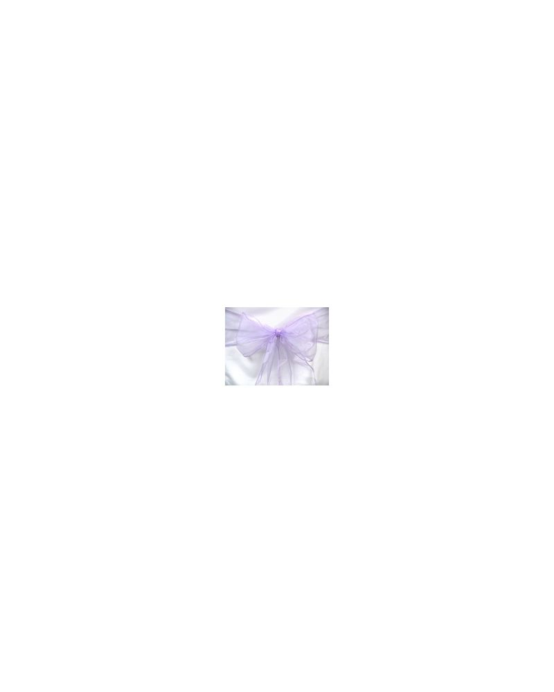 "Lavender Shimmer Organza Chair Cover Sashes 8""x108"""