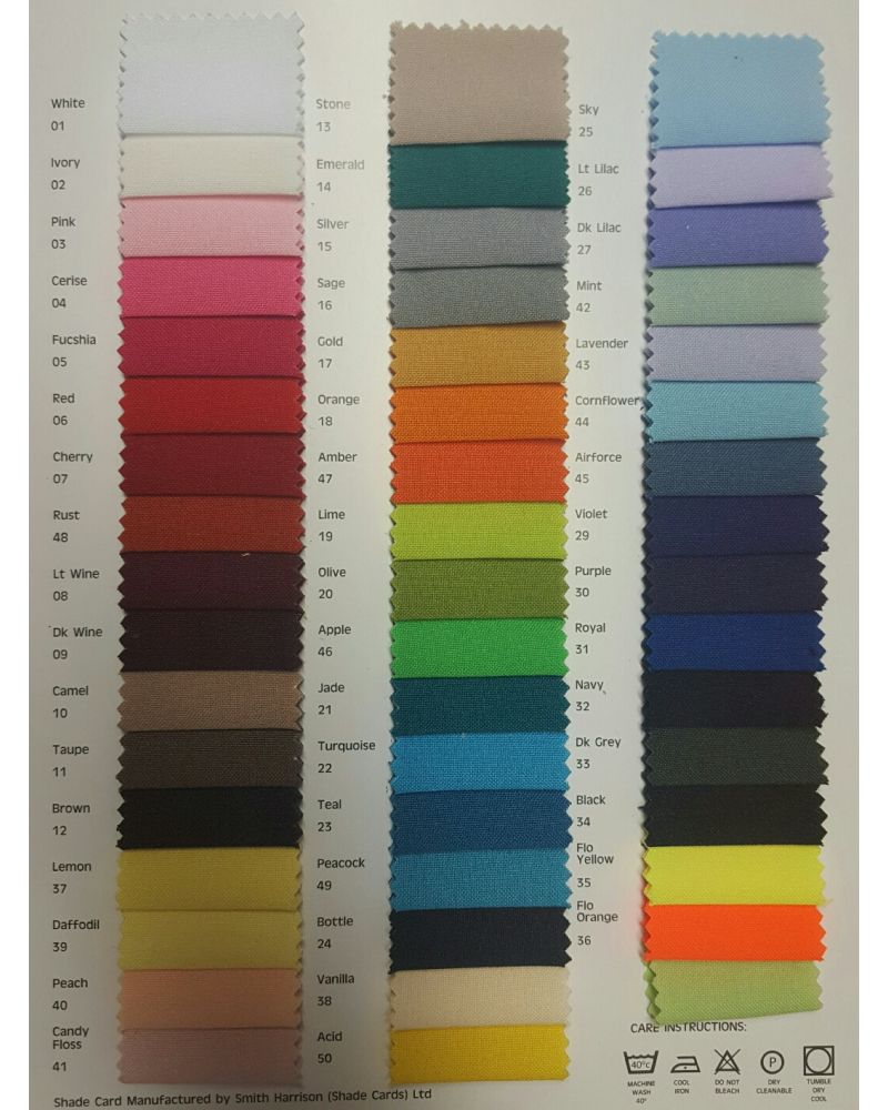 Chiavari Chair Polyester Seat Pad Covers (Shower Caps)  To Buy Any colour off the chart