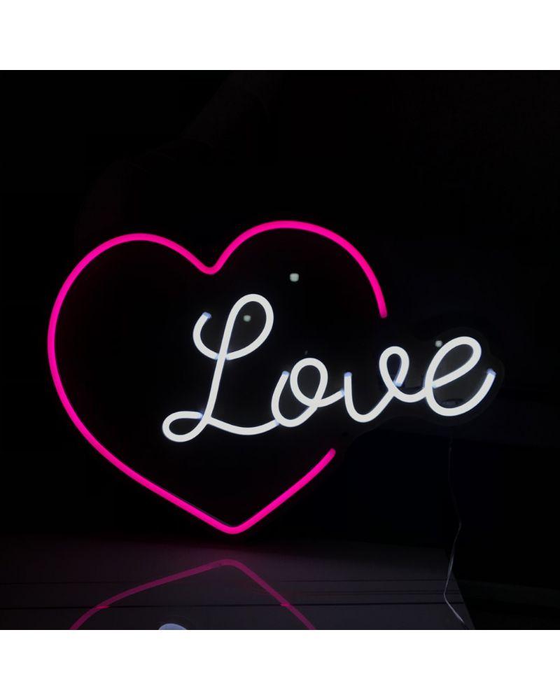 Love (Heart) LED Neon Wedding Sign