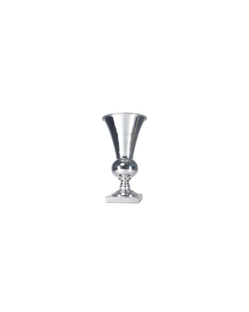 Silver  Metal Vase Urn Wedding Centrepiece 41cm