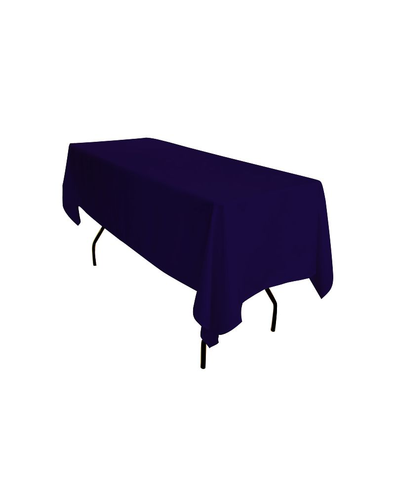 "90""x132"" Navy Blue Rectangular trestle Table Banqueting Tablecloth"
