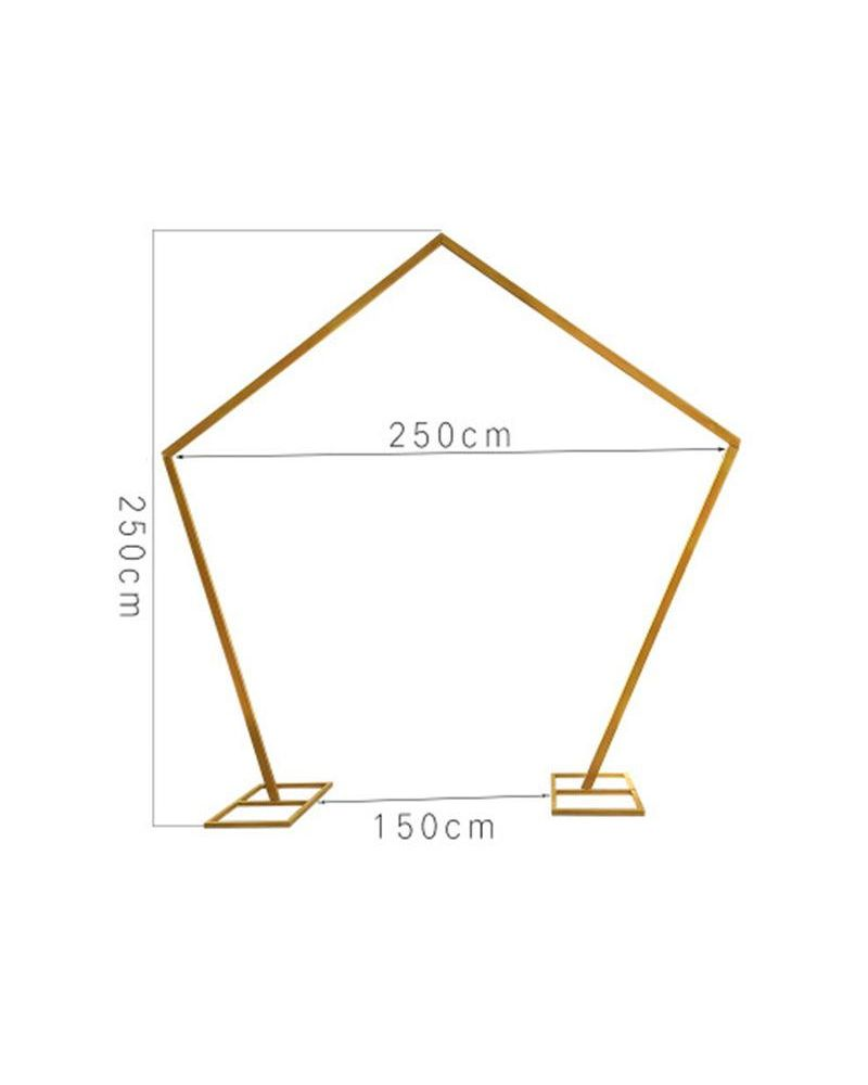 Gold Geometric Wedding Arch Frame 250cm