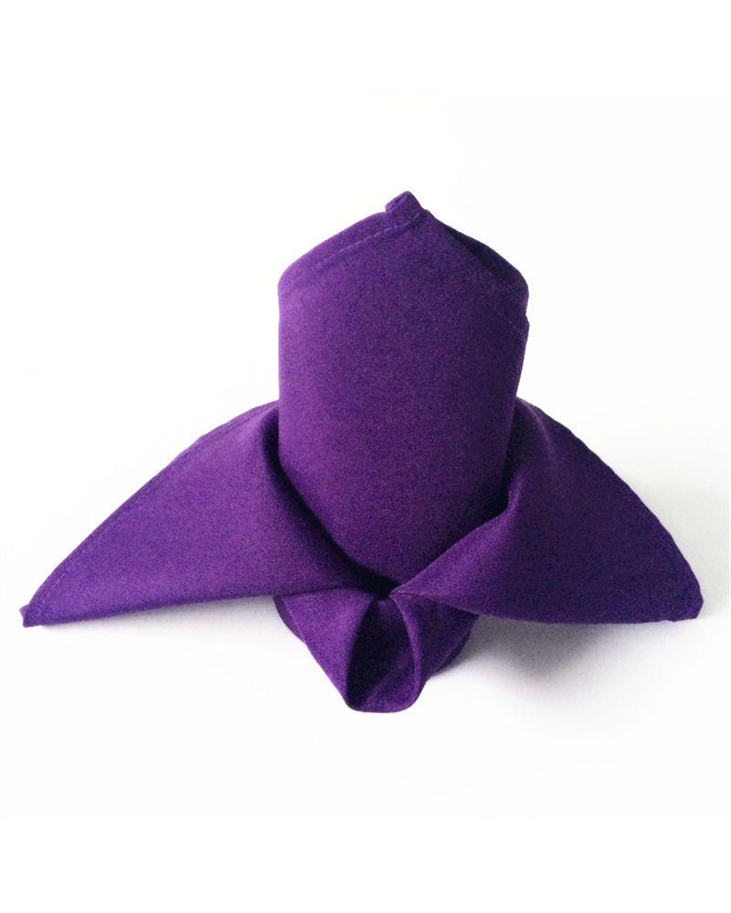 "Purple Polyester Napkins 20""x20"""