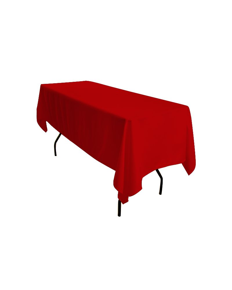 "90""x132"" Red Rectangular trestle Table Banqueting Tablecloth"