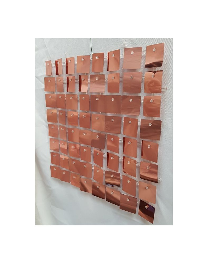 Sequin Wall Panel (Rose Gold)