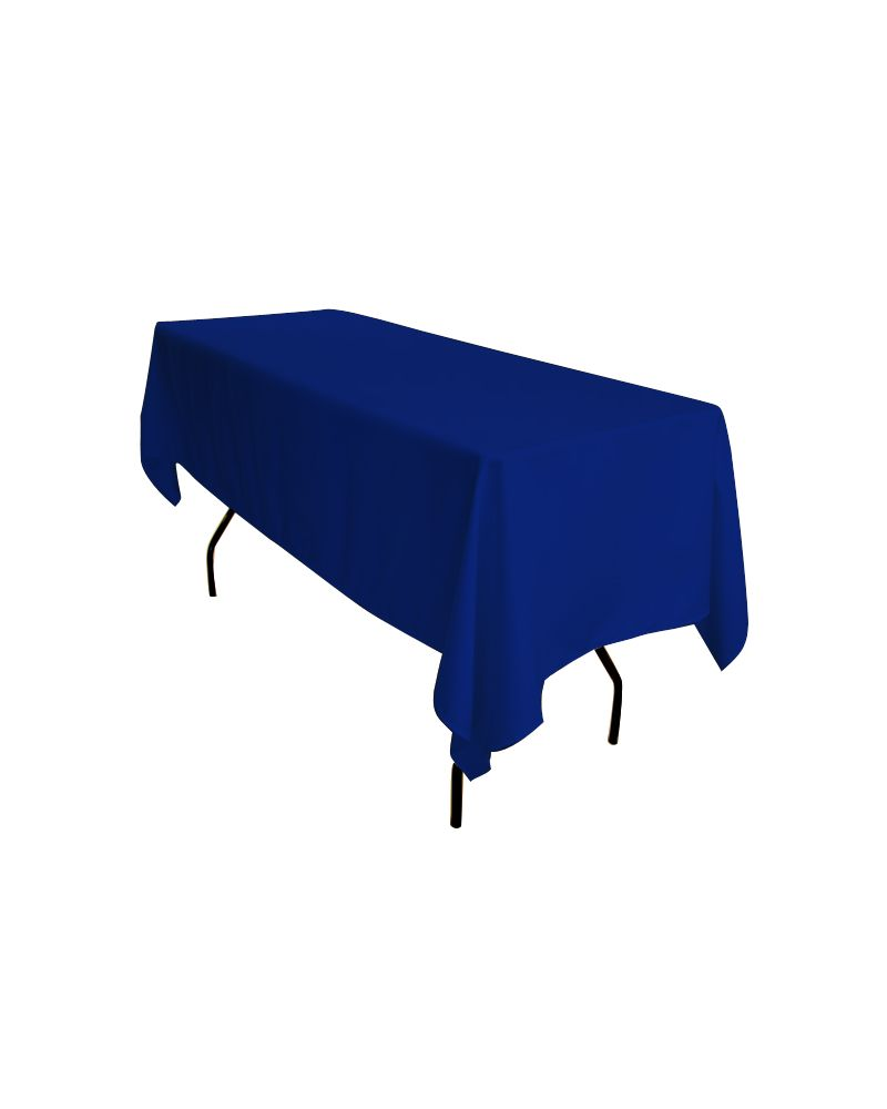 "90""x132"" Royal Blue Rectangular trestle Table Banqueting Tablecloth"