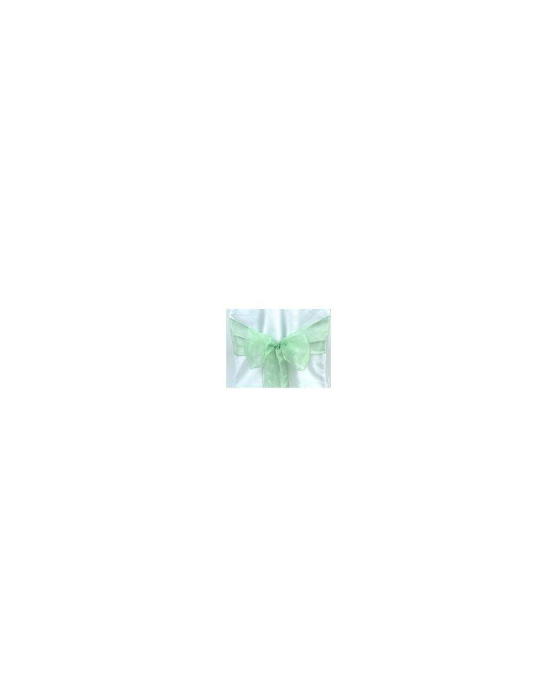 "Sage Green Shimmer Organza Chair Cover Sashes 8""x108"""