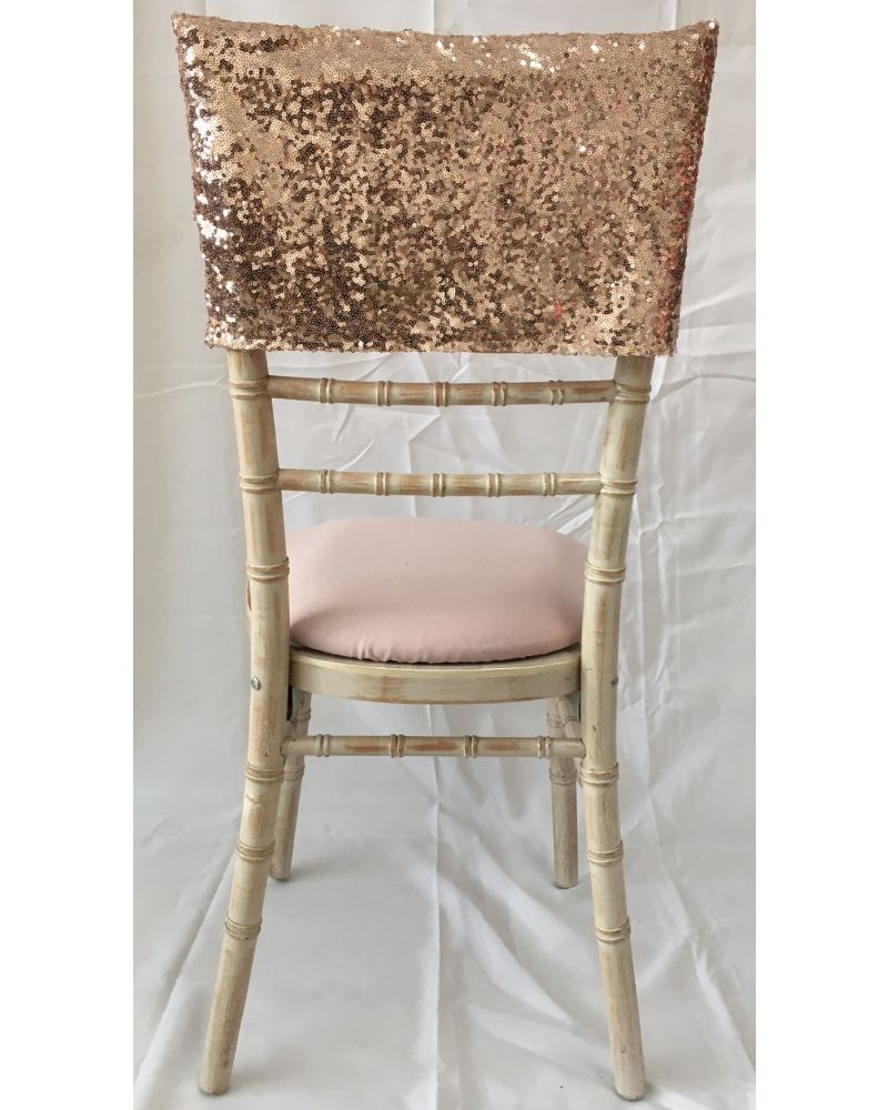 Blush Pink/ Rose Gold sequin chiavari chair back