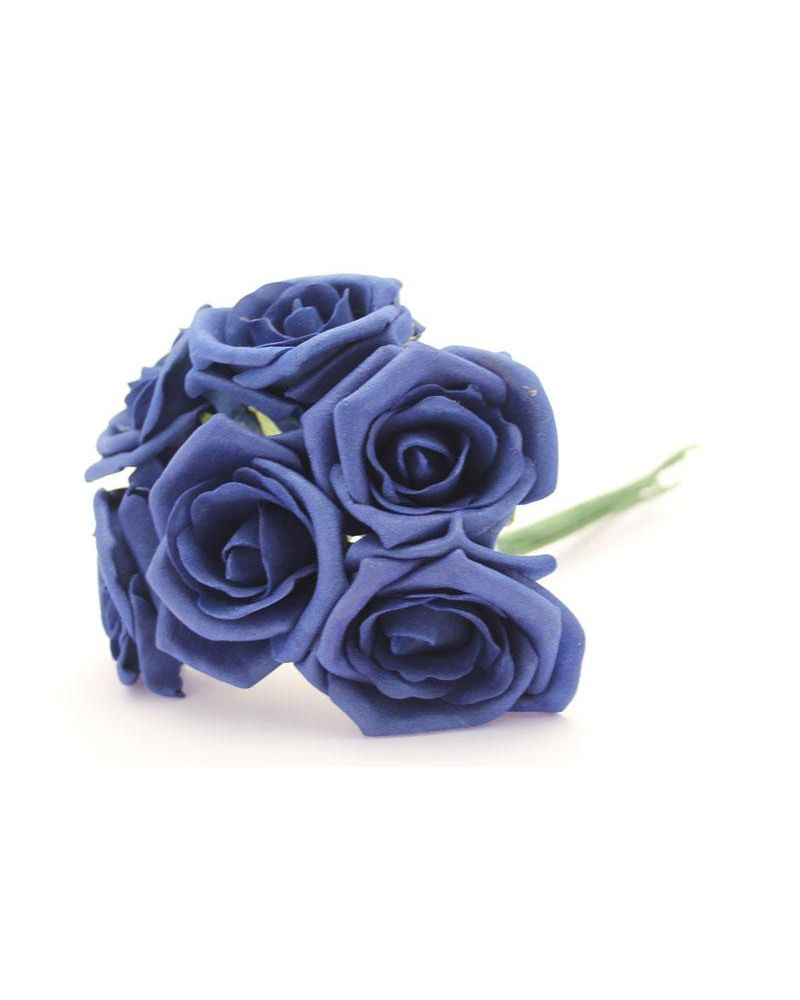 Navy Blue 5.5cm Foam Rose Flower