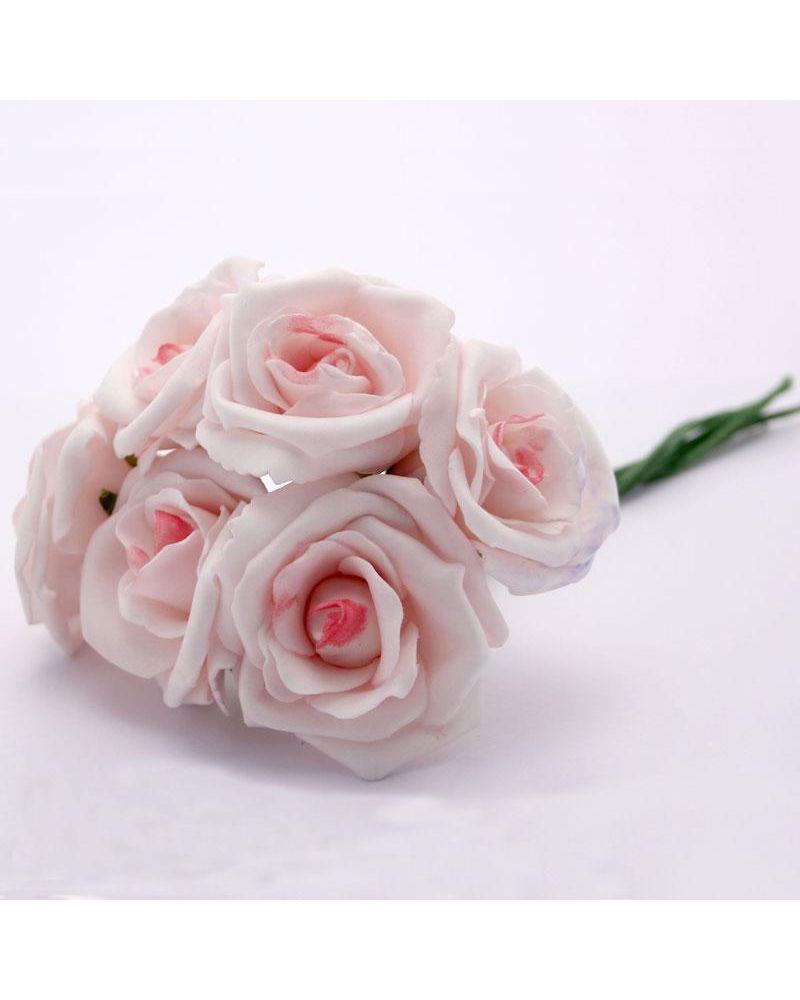 Pink 5.5cm Foam Rose Flower