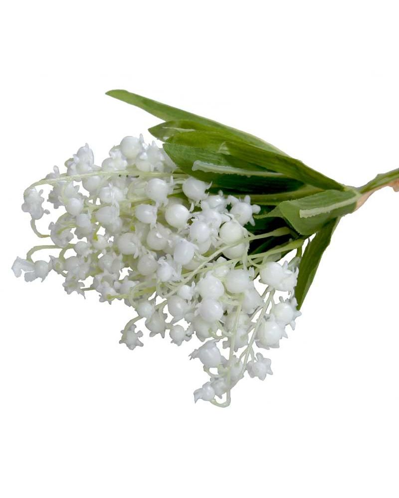 34cm Lily Of the Valley x3 White