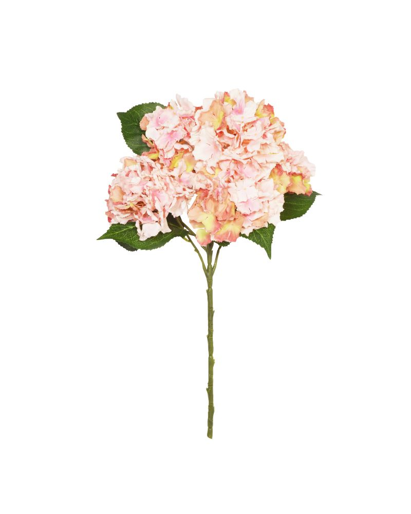 56cm Pink Hydrangea 7 Stem