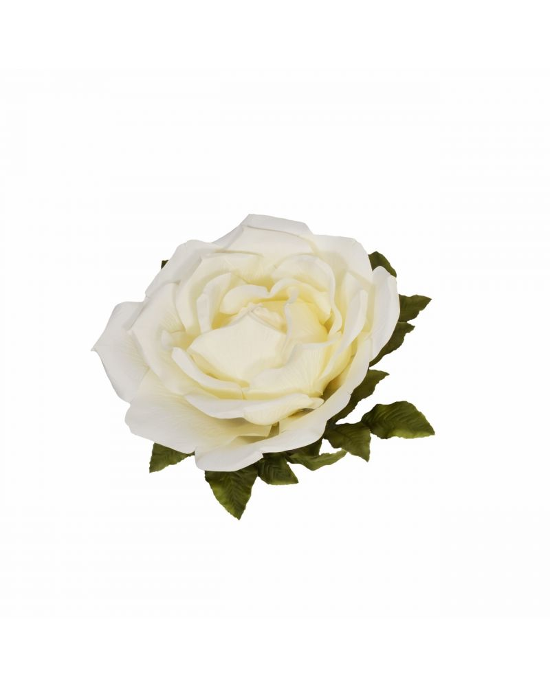 75CM CREAM GIANT ROSE DECORATION
