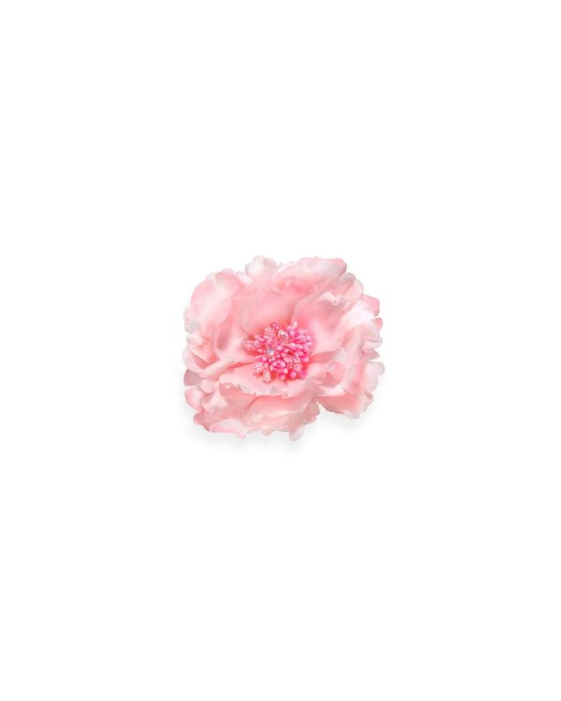 Pink Diamante Flower Clip 11cm