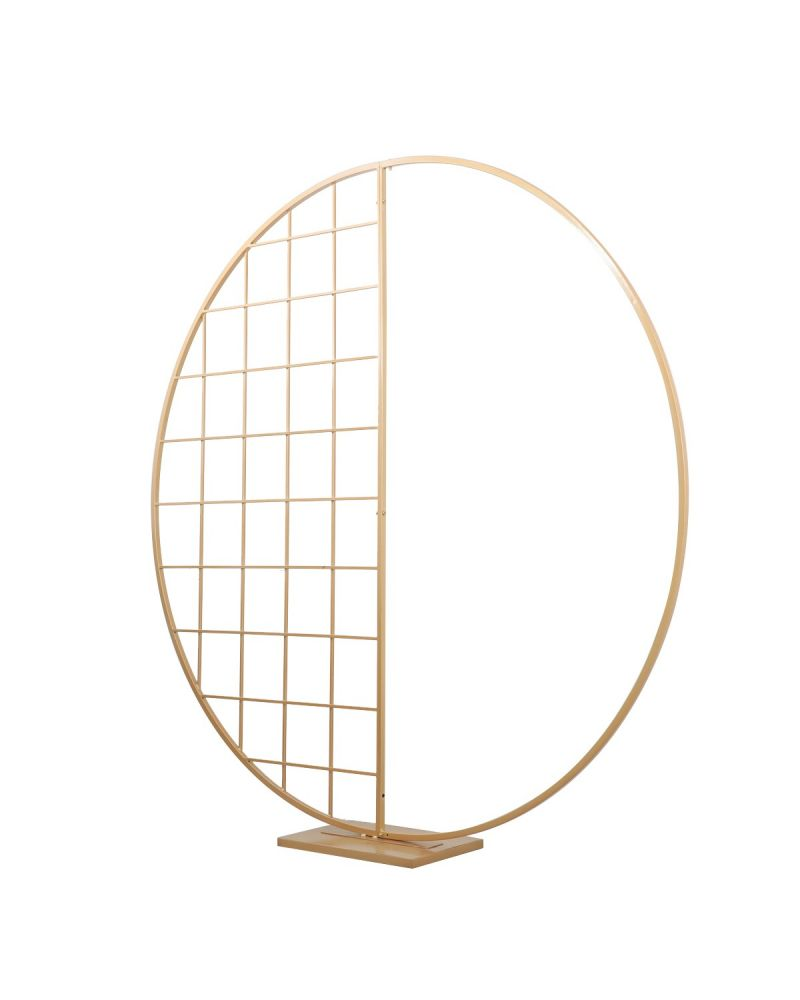 Gold 180cm Half Mesh Circle Backdrop stand (in stock)