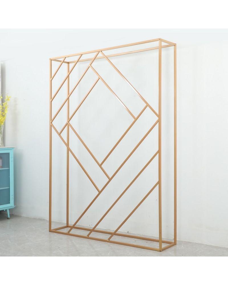 2m x1.5m Gold  Geometric Rectangle Backdrop stand