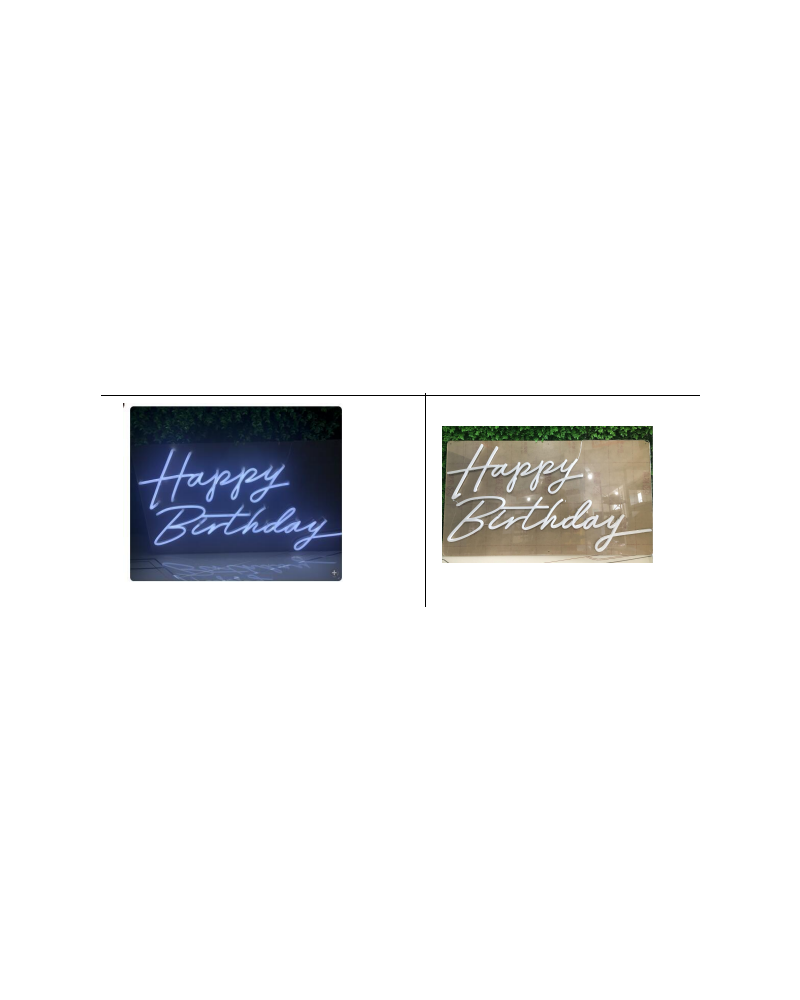 Happy Birthday LED Neon Party Sign (Cool White)